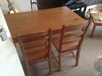 IKEA Jokkmokk Wooden Dining Kitchen Table & 4 Chairs