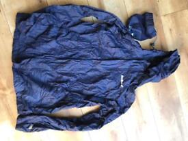 Peter Storm - Navy - packable waterproof jacket- size 13