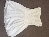 SuperDry Cream Lacey dress xs