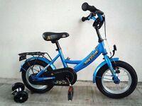 "(2160) 12"" LIGHTWEIGHT BIKESTAR Boys Girls Kids Childs Bike Bicycle+STABILISERS Age:2-4 H: 85-105cm"