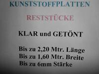 Kunststoffscheibe platte auch Reststücke in vers. Stärken und Gr. Rheinland-Pfalz - Waldböckelheim Vorschau