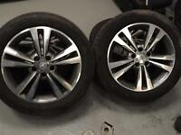 "Mercedes E class 17"" Alloys with good tyres genuine w212 X4"