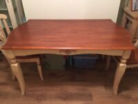French country style dining table and chairs