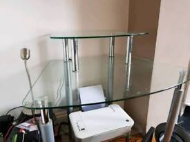 Glass pc table
