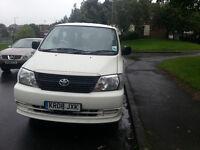 white toyota hiace 8 seater minibus reg08 for sale