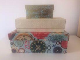 Stylish storage/Christmas gift boxes