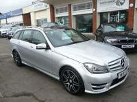 MERCEDES-BENZ C CLASS 2.1 C250 CDI BLUEEFFICIENCY AMG SPORT PLUS 5d AUTO 202 BHP (silver) 2013