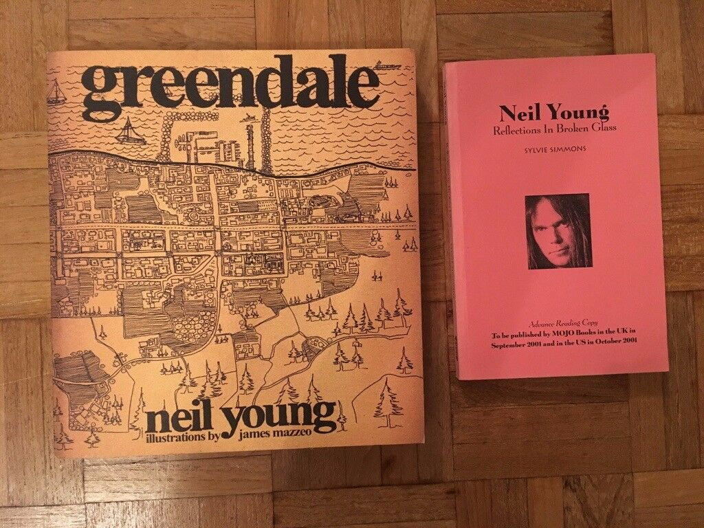 Neil Young Books. Greendale & Reflections in Broken Glass ...