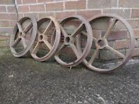 Cast iron wheels. £15 each