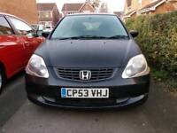 '53' 2004 HONDA CIVIC 1.6 SE NO MOT SPARES REPAIR