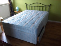 Double Bed With 2 Storage Drawers, Headboard & Mattress, Immaculate Condition £60