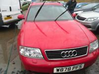 AUDI A6 2.8 5dr V6 MANUAL GEARBOX, GOOD LONG MOT, 1 FAMILY OWNED FROM NEW (red) 2000