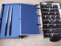 4 in 1 games table or table top - football,pool,table tennis,air hockey