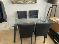 """Dwell """"Palais"""" Dining Table & 4 X Made """"Flynn"""" Dining Chairs"""