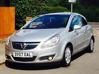 VAUXHALL CORSA 1.2 SXI 2007 77k LOW MILEAGE TIMING BELT CHANGED 1YRS MOT 3 MONTHS WARRANTY