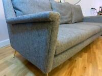 West Elm 2018 Mid-Century Grey Fabric Sofa