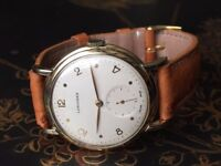 Very rare large Vintage 9ct 9k solid 375 gold Longines mens swiss watch REDUCED!