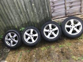 "Genuine Honda Set of 4 Alloy Wheels 16"""