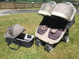 Baby Jogger City Mini Double pram (and carrycot)