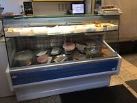 **REDUCTION** 1.5m Zoin Serve Over Counter. Deli/Cafe/Meat Counter. Display Fridge. Retail cooler.