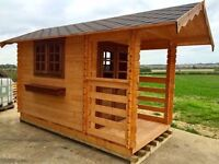 Fisherman's Log Cabin with Terrace (Pre-built)