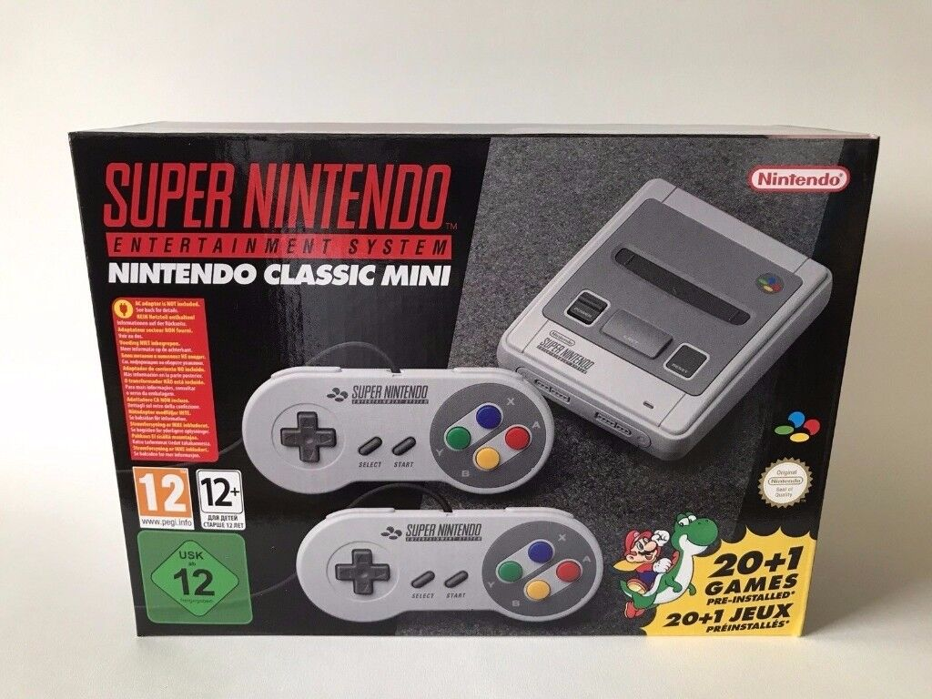 super nintendo classic mini snes console brand new in box in fareham hampshire gumtree. Black Bedroom Furniture Sets. Home Design Ideas