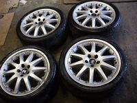 """FORD ST/RS 18"""" ALLOYS WHEELS X 4 WITH EXCELLENT TYRES"""