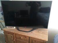 "LG 47LA620V 47"" 3D 1080p Full HD WiFi LED Internet Smart TV With Remote"