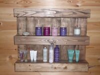 Rustic/Reclaimed Pallet Shelving Unit