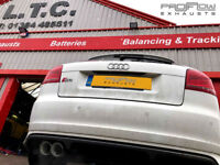 Audi S3 with Custom Stainless Steel Back box and Twin Tip Tailpipe Proflow Exhausts