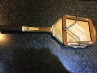 VINTAGE SLAZENGER RACKET WITH A DUNLOP PRESS