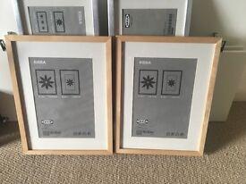 Medium/large picture frames x 5 - wood/metal - John Lewis /Ikea