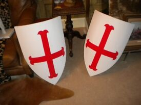 wall shields suit man cave full size great feature