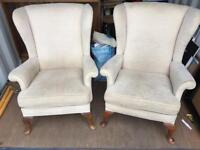 2 x Parker Knoll wingback chairs