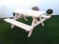 PREMIER PICNIC TABLE - HEAVY DUTY - 2,4,6,8 seater