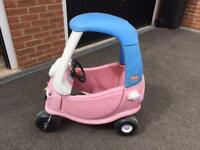 Pink little tikes cosy car