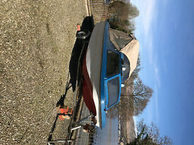 Fishing Boat Day Boat with 25HP Johnston outboard 16 foot