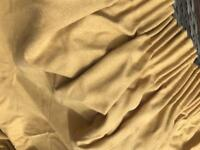 Mustard fully lined curtains (blackout)