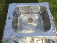 Brand New 34cm SMEG stainless steel inset sink
