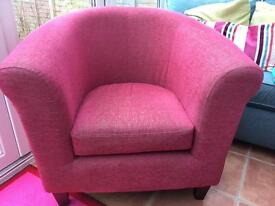 M&S Pink Tub Chair