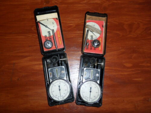 Vntage Tachometer Speed Indicator Machinist R.P.M. COUNTER D.R.P. German in Case