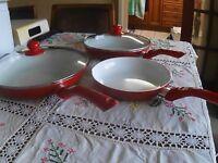 Three-Pc Ceramic Frying Pan Set