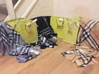 Burberry scarf /Louis Vuitton /Michael kors