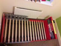 Infant kiddicraft firetruck bed