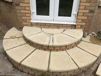 Garden paving half circle slab kits