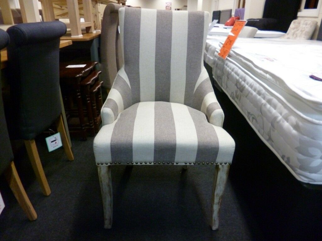 Furniture Mill Sale Lovely Grey And Cream Striped Fabric