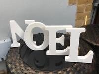 NOEL wooden letters