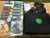 Xbox ORIGINAL retro console complete with 14 games - £49