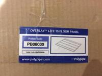Polypipe Overlay Lite 15 Floor Panels including Returns