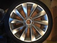 VW Scirocco Interlagos Alloy Wheel With Continental Tyre Brand New - Herts